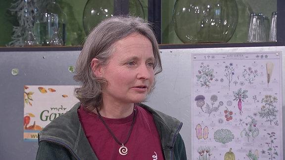 Die Umweltpädadogin Milana Müller im MDR Garten-Studio