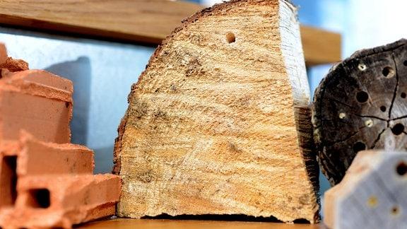 Holz eines Nadelbaums.