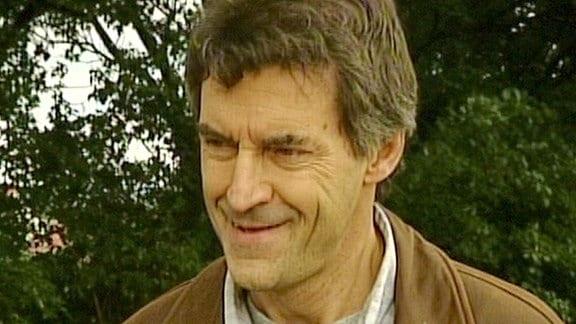Frühes Porträt von Gärtner Horst Schöne