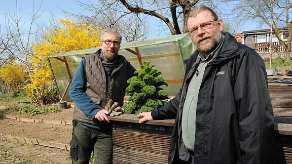 Jörg Heiß und Gemüse-Experte Martin Krumbein