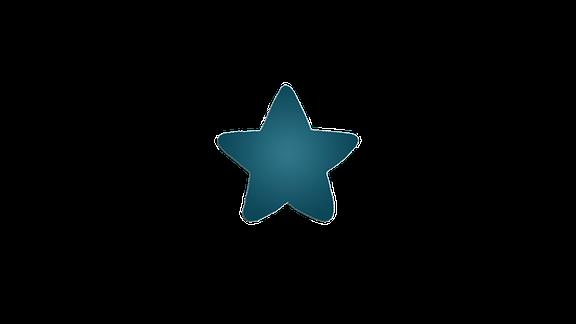 Eine grünblaue Stern-Grafik