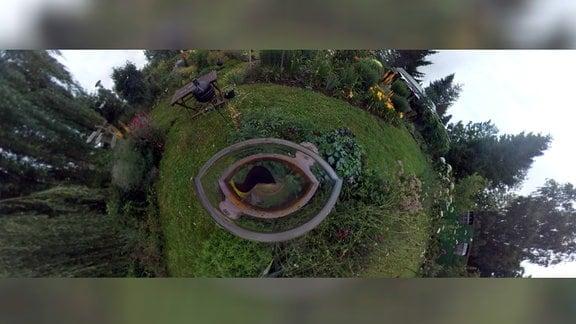 """360 Grad Standbild des Delitzscher Traumgartens """"Schönes Grün"""""""