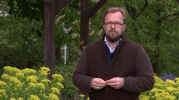 MDR Garten-Moderatur Jens Haentzschel im egapark Erfurt