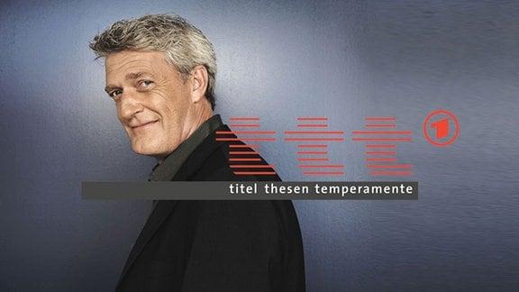 Moderator Dieter Moor und das ttt-Logo.
