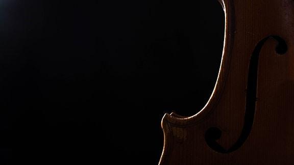 Silhouette einer Geige