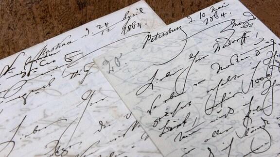 Ein handschriftlicher Brief aus dem 19. Jahrhundert.