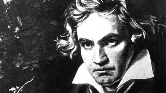 Der Komponist Ludwig van Beethoven in einer zeitgenössischen Darstellung.