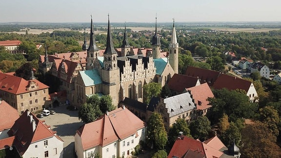 Stadtansicht Merseburg - Merseburger Dom St. Johannes und St. Laurentius Straße der Romanik einstige Pfalz- und Bischofsstadt Merseburg
