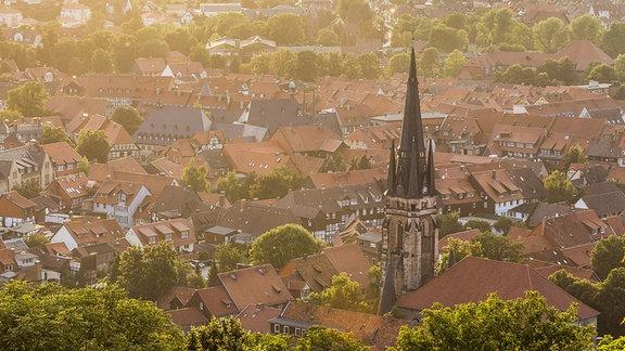 Liebfrauenkirche Wernigerorde am Morgen.
