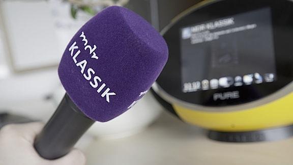 MDR Klassik-Mikrofon und Digitalradio