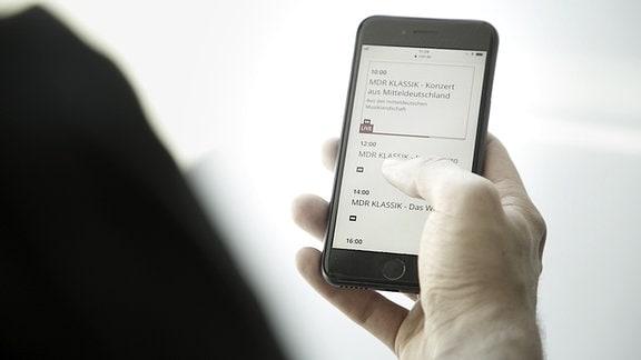 MDR Klassik Programm auf Smartphone
