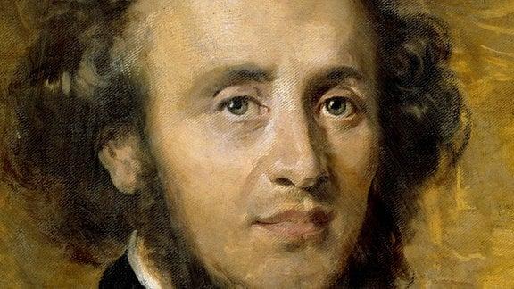 Portrait von Felix Mendelssohn Bartholdy, deutscher Komponist.