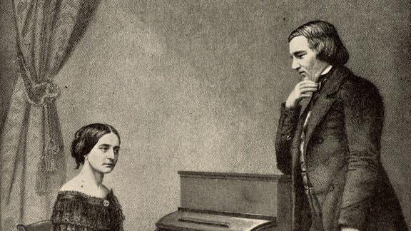 Ein Bild von Robert und Clara Schumann