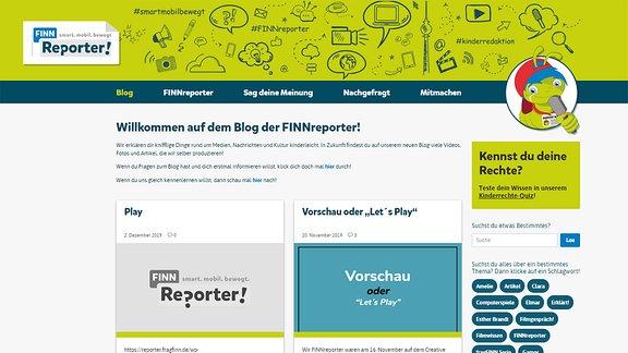 Startseite von finnreporter.de