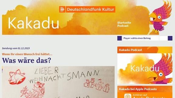 Startseite von kakadu.de