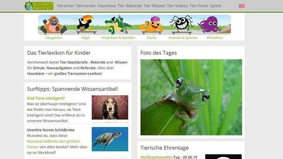 Startseite von tierchenwelt.de