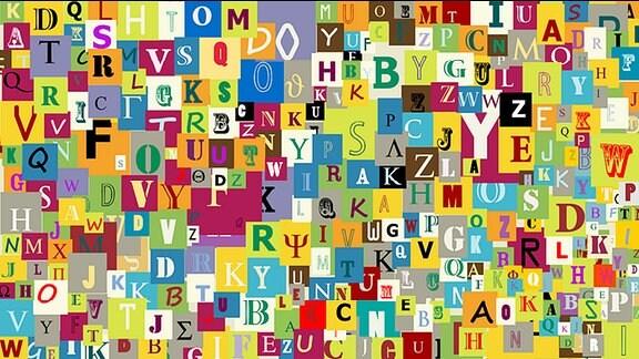 Verschiedene Buchstaben