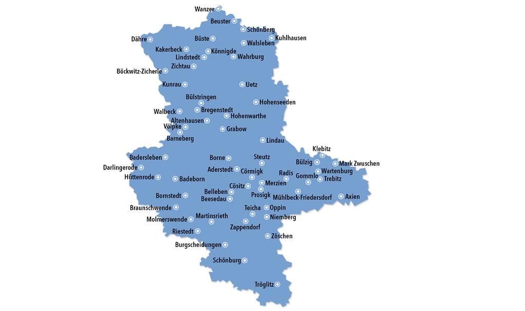 Kulturelle Landpartie Karte.Karte Stationen Landpartie Mdr De