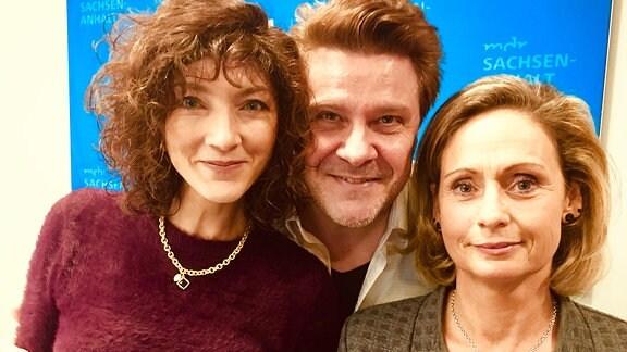 Die Sängerin NEA!, André Holst und die Programmmacherin Daniela Bollmann