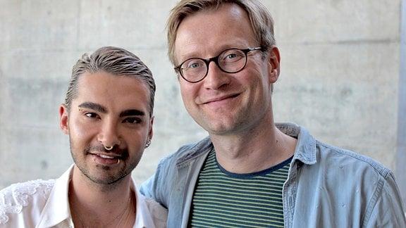 Tokio-Hotel-Sänger Bill Kaulitz und Musikredakteur Tobias Kluge