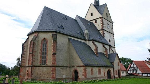 Die eindrucksvolle Wallfahrtskirche in Ziegelheim.