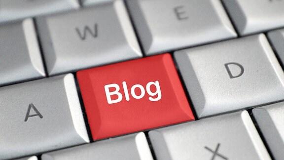 """Tastatur mit einer Taste """"Blog"""""""