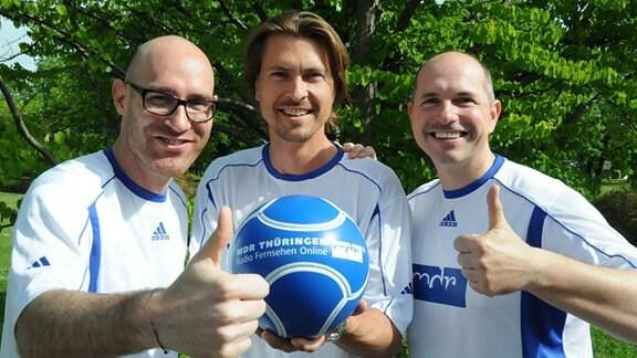 Auf dem Bild (v.l.): Lars Sänger, Johannes-Michael Noack und Steffen Quasebarth
