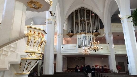 Neueinweihung der auch Herderkirche genannten Stadtkirche St. Peter und Paul in Weimar.