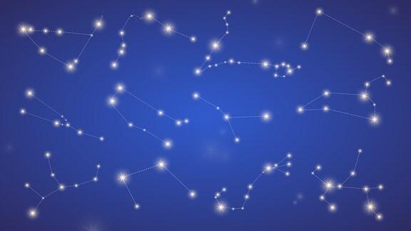 Tierkreiszeichen am Sternenhimmel