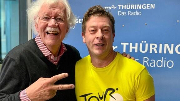 Carlo von Tiedemann mit Moderator Marko Ramm im Studoio