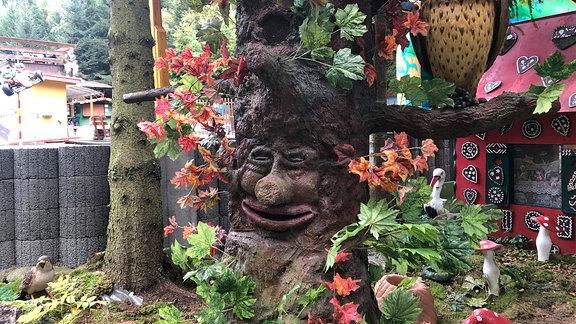 Der sprechende Baum im Märchenwald Saalburg