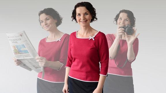 Porträt der Regionalreporterin Kathleen Bernhardt.