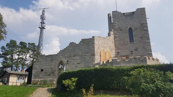 Die Ruine einer Burg