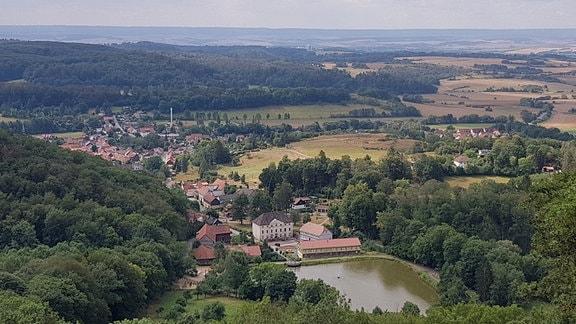 Eine Stadt im Tal