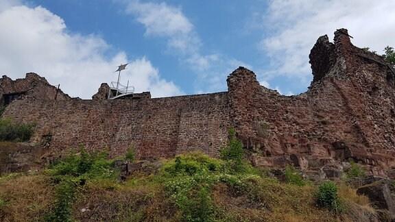 Eine Burgruine