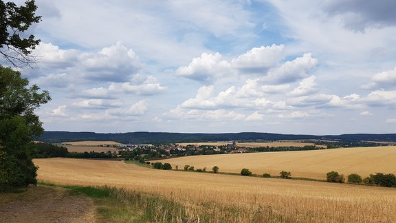Fernblick über ein Tal