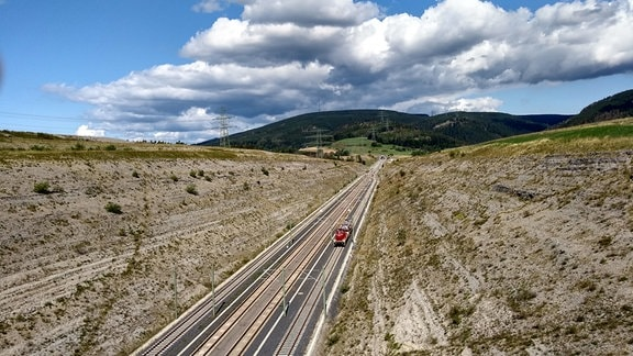 Eine Eisenbahn-Strecke