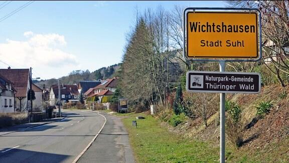 Ortseingangsschild von Wichtshausen