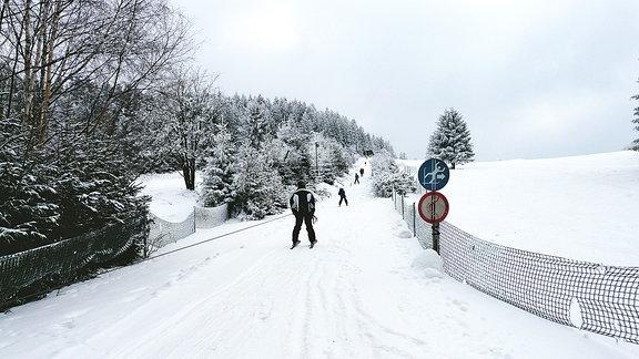 Die Skipiste in Deesbach