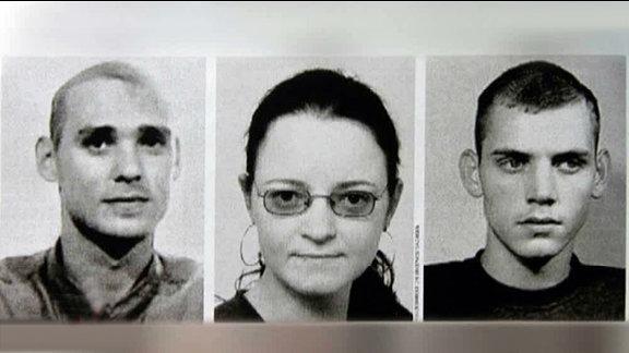 Uwe Mundlos, Beate Zschäpe und Uwe Böhnhardt