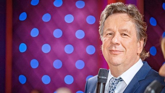 Moderator Jörg Kachelmann anläßlich der Aufzeichnung der MDR - Talkshow Riverboat am 17.12.2018 im Studio 3 der Mediacity Leipzig.