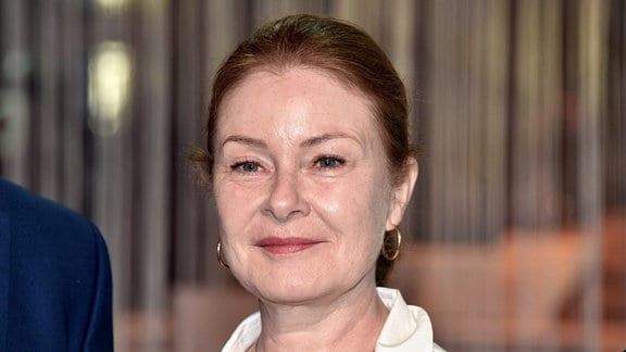 Die Schauspielerin Lina Wendel beim Treffen der Fernsehbranche ''WDR Treff'' am 11.04.2019 in Köln.