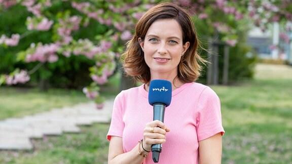 Reporterin Janett Eger