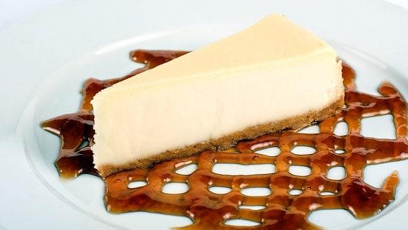 Ein Stück Käsekuchen
