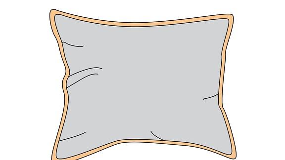 Ein Kissen als Piktogramm