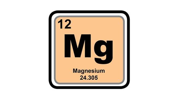 Element Magnesium aus dem Periodensystem als Piktogramm