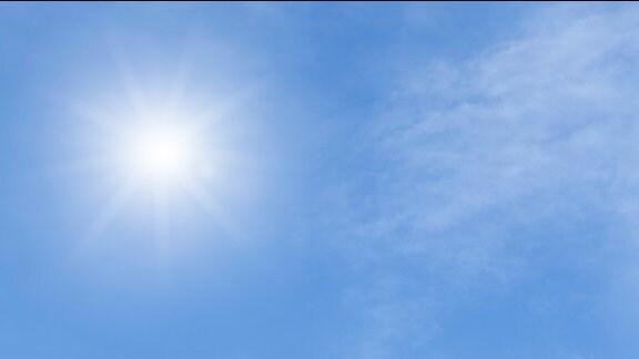Gleißendes Sonnenlicht