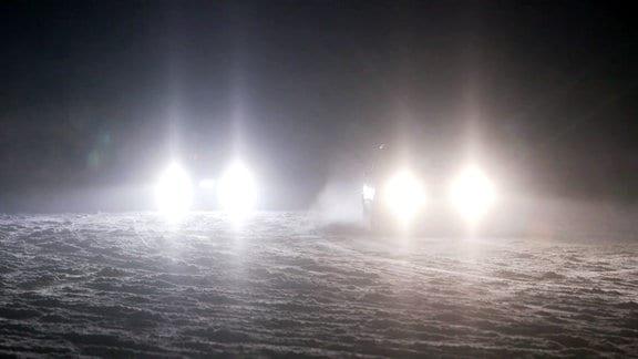 Raser im Schnee