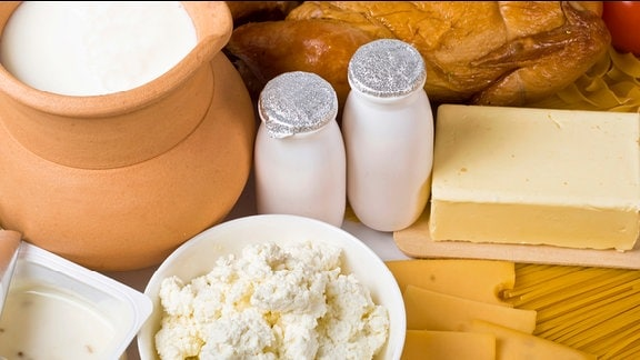 Milch, Joghurt, Butter, Käse und Quark