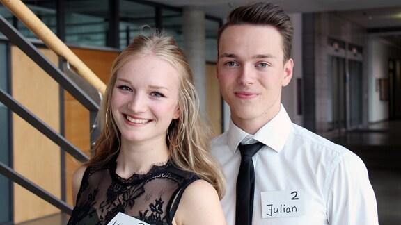 Casting-Finalisten Vanessa Willing und Julian Hengst